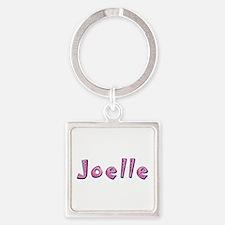 Joelle Pink Giraffe Square Keychain
