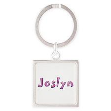Joslyn Pink Giraffe Square Keychain