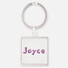 Joyce Pink Giraffe Square Keychain