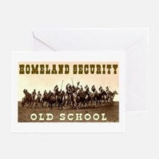 HOMELAND SECURITY - OLD SCHOOL Greeting Cards (Pac