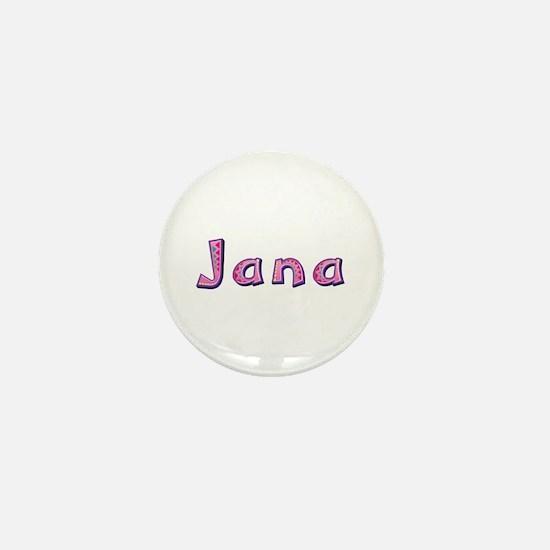 Jana Pink Giraffe Mini Button