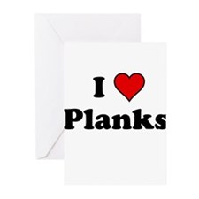 I Heart Planks Greeting Cards