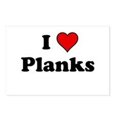 I Heart Planks Postcards (Package of 8)