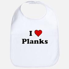I Heart Planks Bib