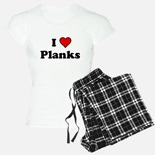 I Heart Planks Pajamas