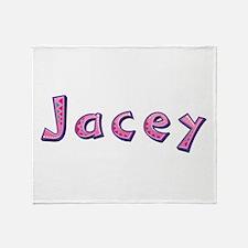 Jacey Pink Giraffe Throw Blanket