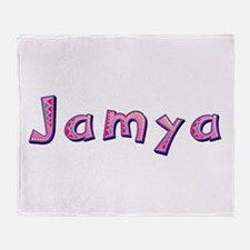 Jamya Pink Giraffe Throw Blanket