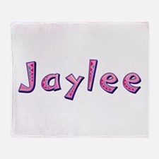 Jaylee Pink Giraffe Throw Blanket