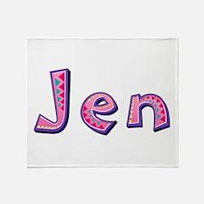 Jen Pink Giraffe Throw Blanket