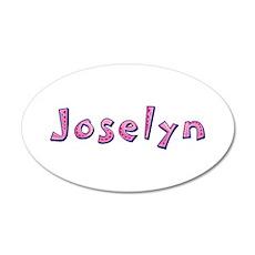 Joselyn Pink Giraffe 20x12 Oval Wall Decal