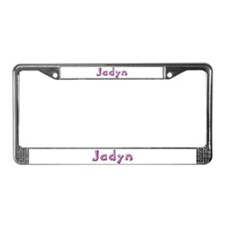 Jadyn Pink Giraffe License Plate Frame