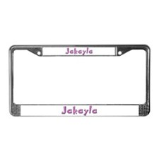 Jakayla Pink Giraffe License Plate Frame