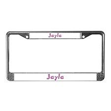 Jayla Pink Giraffe License Plate Frame