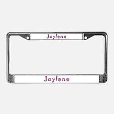 Jaylene Pink Giraffe License Plate Frame