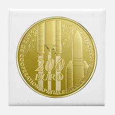 Commerative Coin ESA Logo Tile Coaster