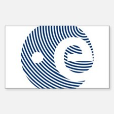 ESA 50Th Anniversary Sticker (Rectangle) Sticker (