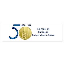 Commerative Coin ESA Logo Bumper Sticker