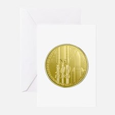 Commerative Coin ESA Log Greeting Cards (Pk of 10)