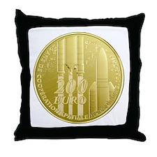 Commerative Coin ESA Throw Pillow