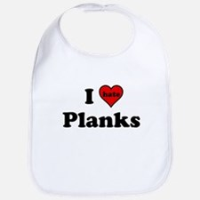 I Heart (hate) Planks Bib