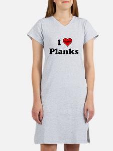 I Heart (hate) Planks Women's Nightshirt