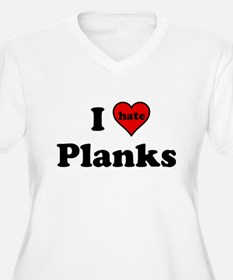 I Heart (hate) Planks Plus Size T-Shirt