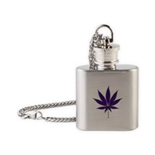 Purple weed Flask Necklace