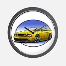 GT Stang Yellow Wall Clock
