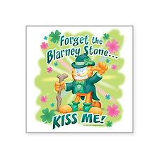 """Kiss Me! Garfield Square Sticker 3"""" x 3"""""""
