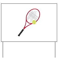 Tennis Racket Yard Sign