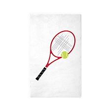 Tennis Racket 3'x5' Area Rug