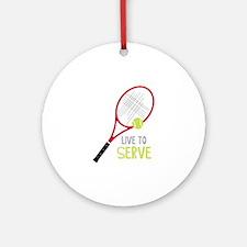 Live To Serve Ornament (Round)
