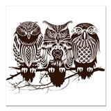 Owls Square Car Magnets