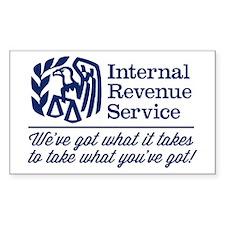 The Irs Sticker (Rectangle 10 Pk)