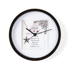 Calming Chant Wall Clock