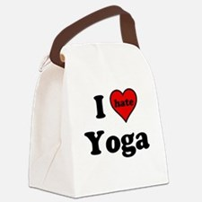 I Heart (hate) Yoga Canvas Lunch Bag
