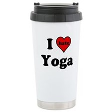I Heart (hate) Yoga Travel Mug