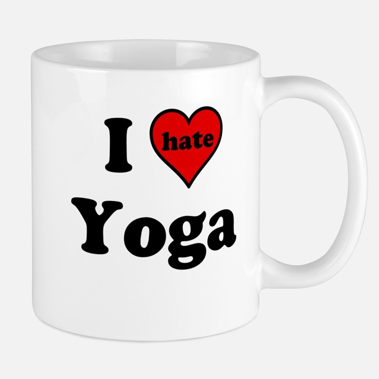 I Heart (hate) Yoga Mugs