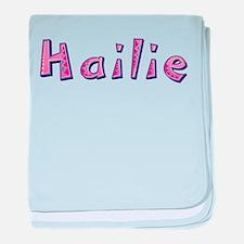 Hailie Pink Giraffe baby blanket