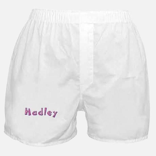 Hadley Pink Giraffe Boxer Shorts