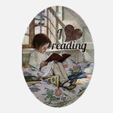 I love reading Oval Ornament