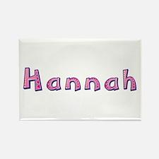 Hannah Pink Giraffe Rectangle Magnet