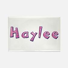Haylee Pink Giraffe Rectangle Magnet