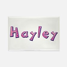 Hayley Pink Giraffe Rectangle Magnet