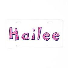 Hailee Pink Giraffe Aluminum License Plate