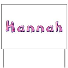 Hannah Pink Giraffe Yard Sign
