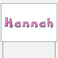 Hannah Pink Giraffe Yard Sign
