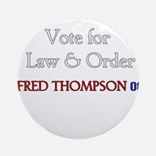 Fred Thompson 2008  Ornament (Round)