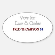 Fred Thompson 2008 Oval Decal