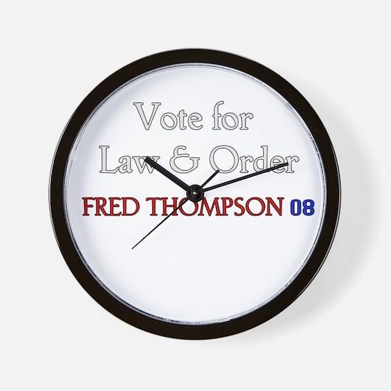 Fred Thompson 2008  Wall Clock